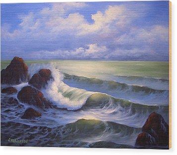 Surf Melody Wood Print