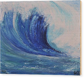 Wood Print featuring the painting Surf by Teresa Wegrzyn