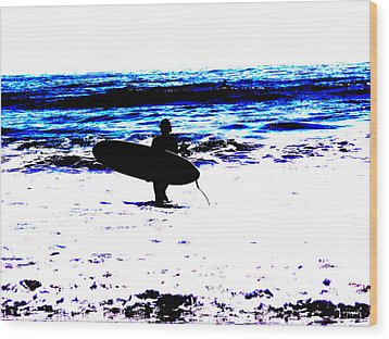 Surf Wood Print by Tim Tanis