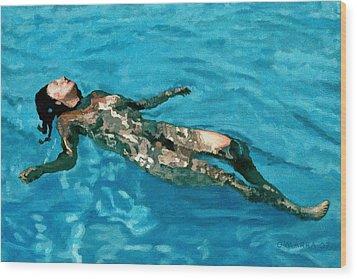 Surface Figure - Surrender Wood Print by Allan OMarra