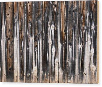 Surface Of Saturn Wood Print