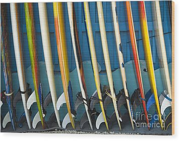 Surfboards Wood Print by Dana Edmunds - Printscapes