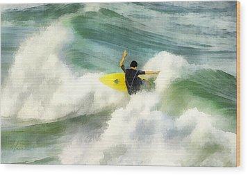 Wood Print featuring the digital art Surfer 76 by Francesa Miller