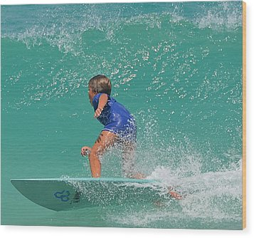 Surfer Boy Wood Print