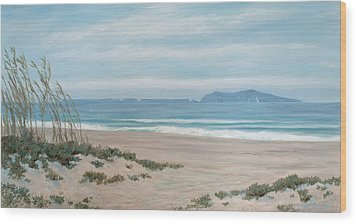 Surfers Knoll Anacapa View #5 Wood Print by Tina Obrien