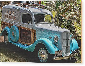 Surfin Safari Wood Print