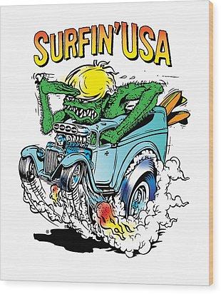 Surfin Usa Wood Print by Gary Grayson