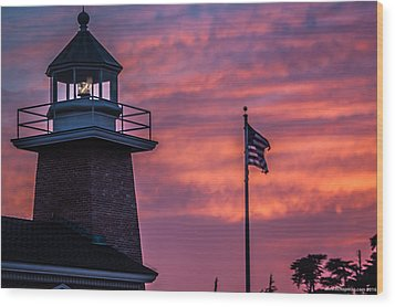 Surfing Museum Full Color  Wood Print by Lora Lee Chapman