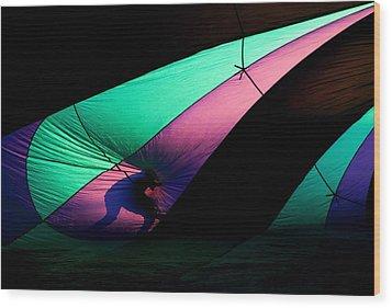 Surfing The Silk Wood Print by Mike  Dawson