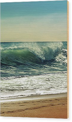 Wood Print featuring the photograph Surf's Up by Laura Fasulo