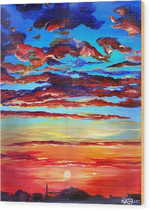 Surprise Ending Wood Print by Suzanne King