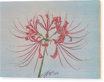 Surprise Lily Wood Print by Beverly Fuqua