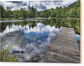 Wood Print featuring the photograph Surprise Pond by David Patterson