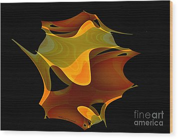Surreal Shape Wood Print