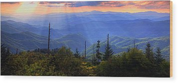 Surreal Smokies Wood Print by Doug McPherson