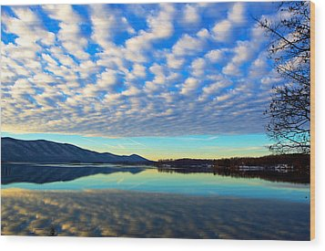 Surreal Sunrise Wood Print by The American Shutterbug Society