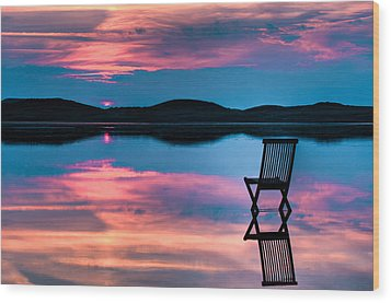 Wood Print featuring the photograph Surreal Sunset by Gert Lavsen