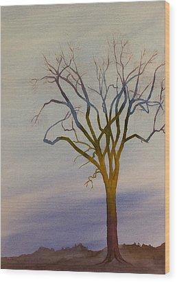 Surreal Tree No. 1 Wood Print by Debbie Homewood