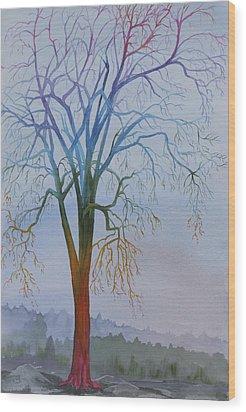 Surreal Tree No. 3 Wood Print by Debbie Homewood