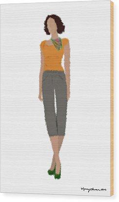 Wood Print featuring the digital art Susan by Nancy Levan