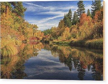 Susan River 10-28-12 Wood Print by James Eddy