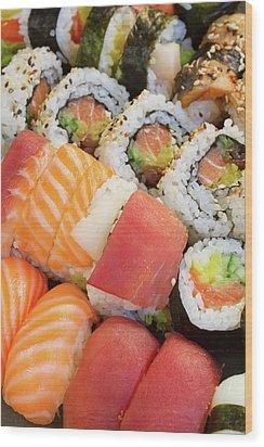 Sushi Dish Wood Print