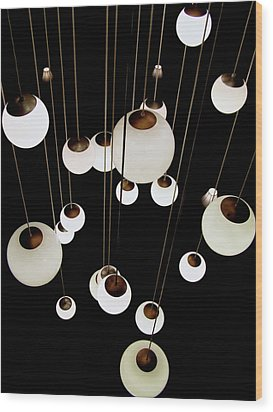 Suspended - Balls Of Light Art Print Wood Print