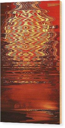 Suspended Belief Wood Print by Anne-Elizabeth Whiteway