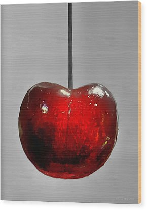 Suspended Cherry Wood Print by Suzanne Stout