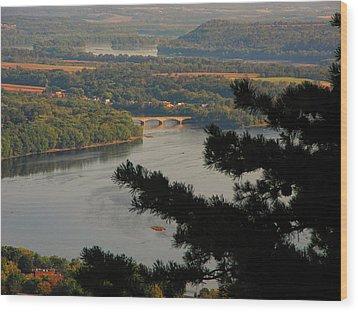 Susquehanna River Below Wood Print