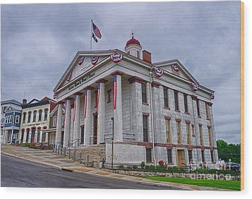 Wood Print featuring the photograph Sussex County Courthouse by Mark Miller
