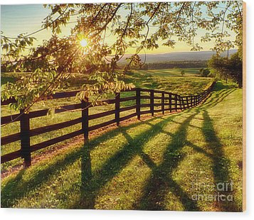 Sussex County Sunset Wood Print by Mark Miller