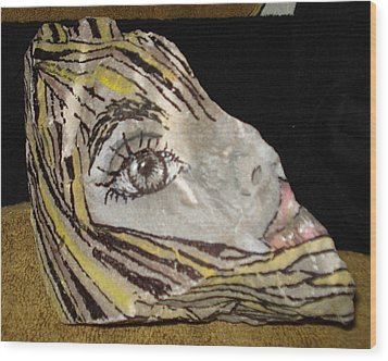 Suzy Q Wood Print by Ellen Adler