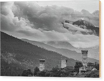 Svan Towers Wood Print by Francesco Emanuele Carucci