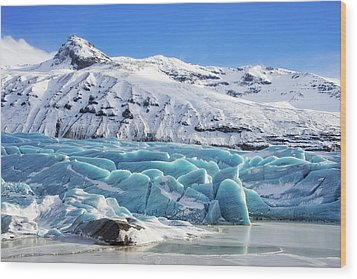 Wood Print featuring the photograph Svinafellsjokull Glacier Iceland by Matthias Hauser