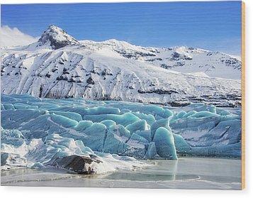 Svinafellsjokull Glacier Iceland Wood Print by Matthias Hauser