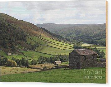 Swaledale  Yorkshire Dales Wood Print