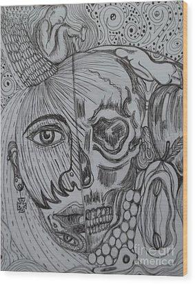 Swallowed Pride Wood Print by Anita Wexler