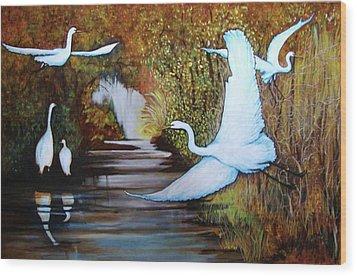 Swamp 1 Wood Print