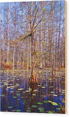 Swamp Tree Wood Print by Susanne Van Hulst