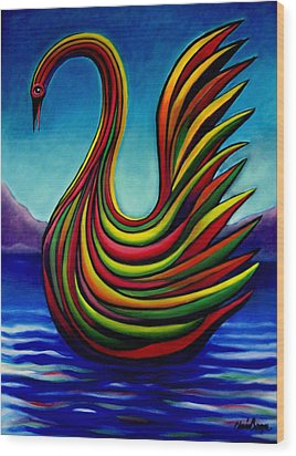 Swan #2 Wood Print by Chris Boone