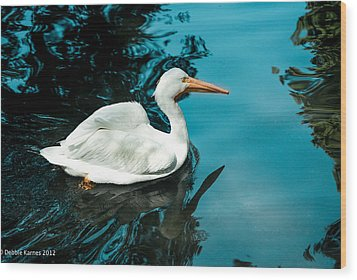 Wood Print featuring the photograph Swan Lake by Debbie Karnes