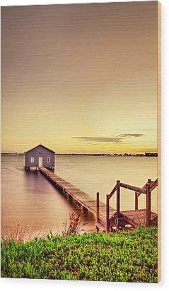 Swan River Wood Print by Jimmy Chong