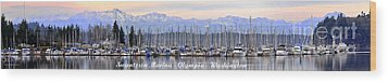 Wood Print featuring the photograph Swantown Marina Olympia Wa by Larry Keahey