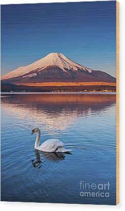 Wood Print featuring the photograph Swany by Tatsuya Atarashi