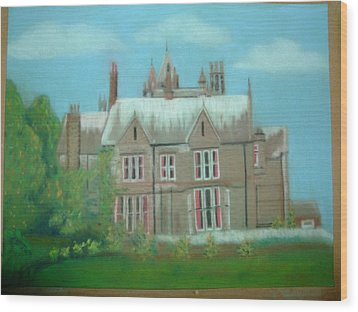 Swarcliffe Hall Wood Print by Mark Dermody