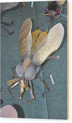 Swatter Bee Wood Print by Michael Jude Russo