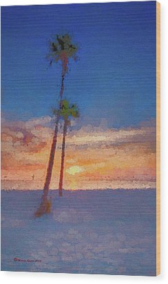 Wood Print featuring the photograph Swaying Palms by Marvin Spates