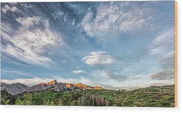 Wood Print featuring the photograph Sweeping Clouds by Jon Glaser