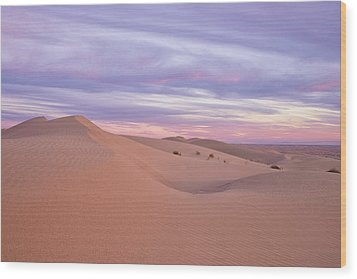 Wood Print featuring the photograph Sweeping Dunes At Sunset by Patricia Davidson